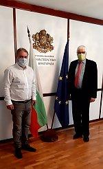 Kultus-Minister Boil Banov und. K Billand
